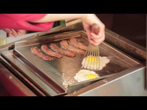 Eggs & Bacon (& Biscuits!) on TECs Commercial-Style Flat-Top Griddle