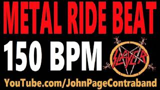 Metal Ride Beat 150 bpm Slayer Style Drums Only Track Loop