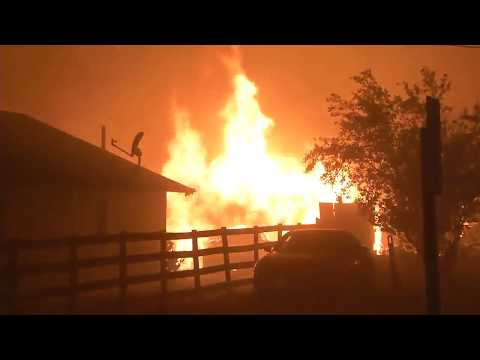 Fire Out of Control in California - Santa Rosa, NAPA, Wine Country BURNING!