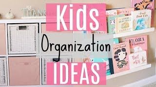 Easy Organization Ideas For Kids / Organizing My Toddlers Things! Affordable Storage Ideas