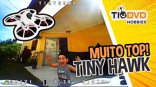 DRONE EMAX TINY HAWK É MUITO TOP! DIVERSÃO GARANTIDA! MINI DRONE RACER TINY WHOOP BOM P/ INICIANTES