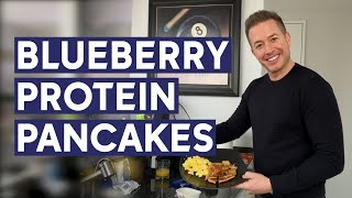 Ryan Field Flippin Famous Healthy Blueberry Protein Pancakes | Holiday Recipes