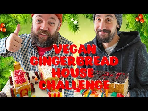 Vegan Gingerbread House Challenge (Easy + No-Bake ) + Vegan Holiday Gift Idea Mp3