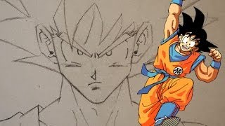 HOW TO DRAW GOKU STEP-BY-STEP!