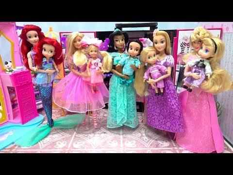 Disney Princess Toddler Makeup Mermaid Ariel New Rapunzel Doll Costumes Barbie Surprise Toys