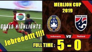 Cuplikan Pertandingan Indonesia Vs Filipina - Merlion Cup 2019