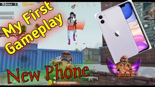 My first gameplay on my New Phone | Iphone 11 | Zalmi gaming Pubg mobile