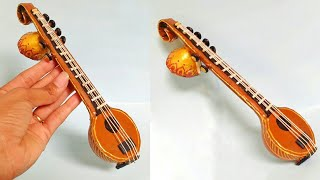 Miniature Veena Making | How To Make | Indian Musical Instruments | DIY-Creative Craft Punekar Sneha
