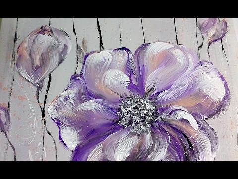Einfach Malen - Blumen - Acrylmalerei - Easy Painting - Flowers - Acrylic Painting/ V28