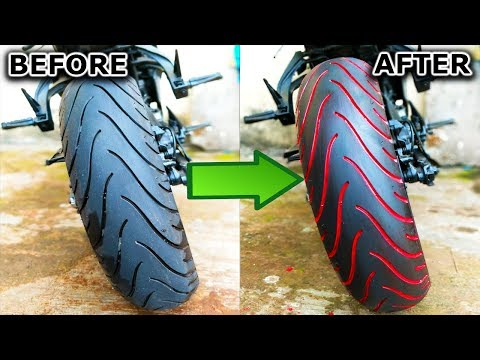 "3 easy steps to Paint any Motorcycle Tyre | ""How to"" 