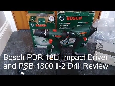 Bosch PDR 18Li Impact Driver and Bosch PSB 1800 Li-2 Drill Review
