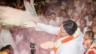 Playing Holi with Amma