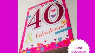 Happy 40th Birthday Card Woman (2019)