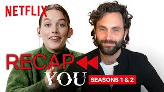 Penn Badgley and Victoria Pedretti Recap YOU S1 and S2   Netflix