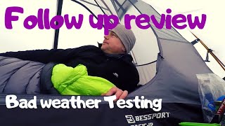 Bessport ultralight  Budget Backpacking tent | Bad Weather Testing | Follow up Review