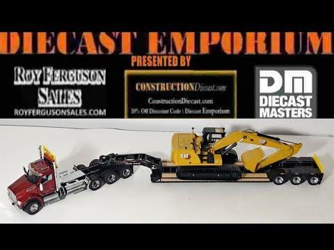 Diecast Masters Kenworth T880 SBFA Day Cab Tridem Axle Tractor with LowBoy