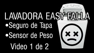 Lavadora Easy Id System 4.0 No lava No exprime  | Seguro de tapa-Sensor de Peso Parte 1 de 2