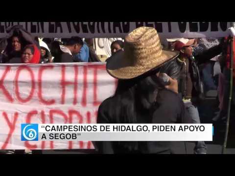 Campesinos de Hidalgo protestan en la SEGOB