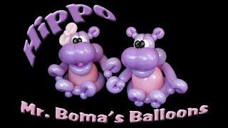 Hippo Balloon Animal Tutorial (Balloon Twisting and Modeling #36 )