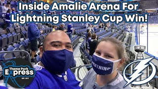 WHY ARE THEY DESTROYING THINGS?! Inside Amalie Arena For The Lightning Stanley Cup Win!