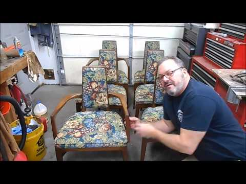 Preparing a Mid-Century Modern Dining Set for Sale   Part 1