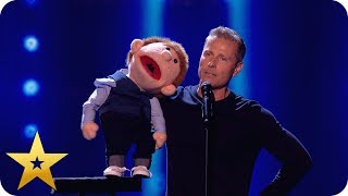 Say whaaat?! Paul Zerdin left speechless by puppet! | BGT: The Champions