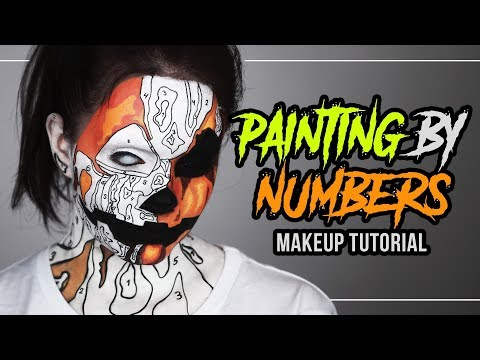 MALEN NACH ZAHLEN 🎃 Painting By Numbers - Halloween Makeup Tutorial (deutsch) #spooktober