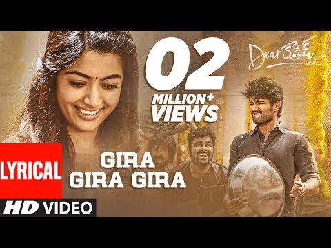Hero Vijay Devarakonda Telugu Movie Dear Comrade Gira Gira Gira Lyrical Video Song