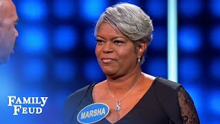 Marsha goes THERE | Celebrity Family Feud