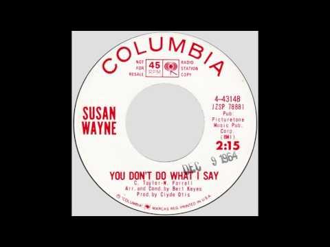 """Susan Wayne – """"You Don't Do What I Say"""" (Columbia) 1964"""