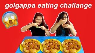 Panipuri Challenge 😂 - Golgappa Competition Between Sisters