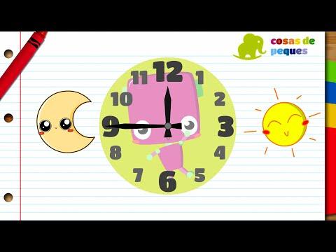 Horas del reloj para niños - Aprender las horas - Vídeos educativos para niños