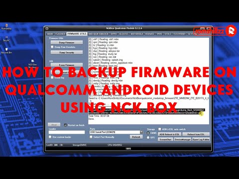 How To Backup (Dump) Firmware On Qualcomm Android Devices Using NCK Box - [romshillzz]