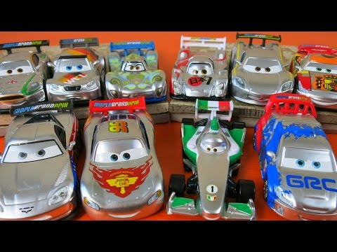 DISNEY PIXAR CARS SILVER METALLIC RACERS CARS 2 WORLD GRAND PRIX