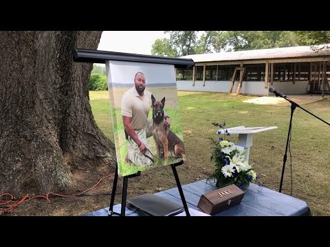 A memorial service was held for Alabama K-9 who died after coming into contact with a narcotic during a prison contraband search. (July 30)