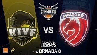 KIYF VS DRAGONS | Superliga Orange J08 | Partido 2 | Split Verano [2018]