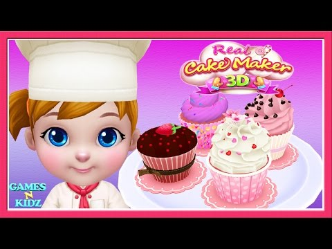 Baby Boss Cake Cooking Game - Baby Cook Cupcakes - Real Cake Maker 3D Cooking Kids Games