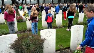 Flower Children At The Arnhem Oosterbeek War Cemetery 22 9 2013