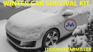NEW YOUTUBE VIDEO-WHAT TO KEEP IN YOUR CAR IN THE WINTER-WINTER SURVIVAL KIT