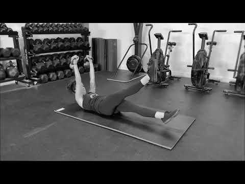 Kettlebell Hollow-body Hold + Flutter Kick