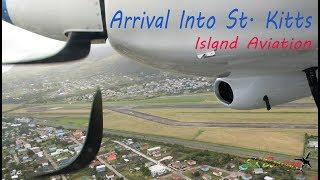 Arrival into St. Kitts, Trans Anguilla Airways Britten-Norman Islander ( Short Clip )