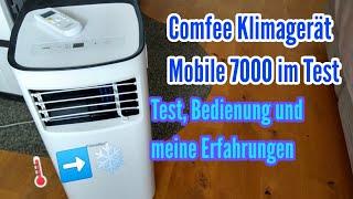 Comfee Klimagerät Mobile 7000 von Lidl Test meine Erfahrungen und Bedienung Klimaanlage Schlafzimmer