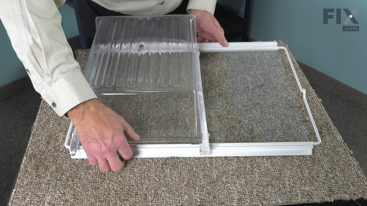 Replacing your Frigidaire Refrigerator Drawer Support Rail - Right Side