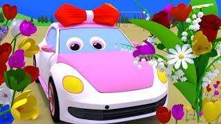 Мультики для маленьких. У грузовика Темы новый друг - машинка Люся, познакомимся, и подарим цветы.