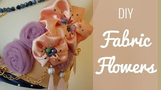 DIY Easy Fabric Flowers - Perfect Appliques For Dresses And Costumes!