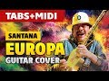 Santana - Europa (Acoustic Guitar Cover, Easy Guitar Tabs) [Guitar Lessons]