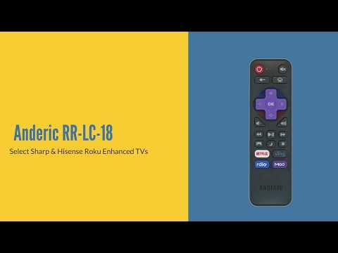 ANDERIC RR-LC-18 for Sharp/Hisense Roku Enhanced TV Remote Control