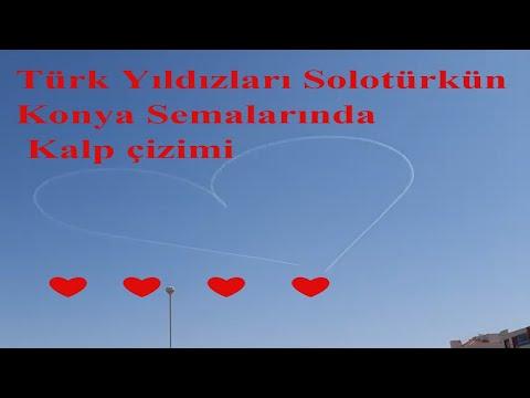 Türk Yıldızları & Solotürk - Konya semalarında tüm sevenler için kalp çizimi ❤️❤️❤️❤️