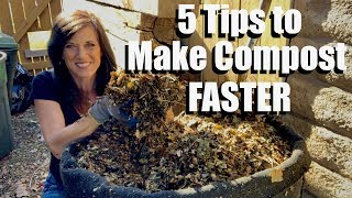How to Make a Compost Pile & 5 Tips to Make Compost FASTER / How to Compost # 1