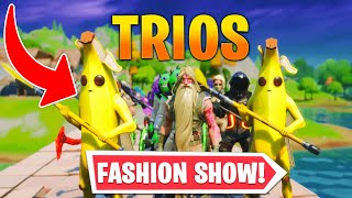 *TRIOS* Fortnite Fashion Show! FIRE Skin Competition! Best DRIP & COMBO WINS! (3/8)